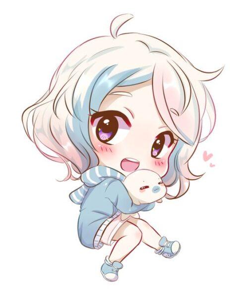Hình vẽ anime chibi đáng yêu