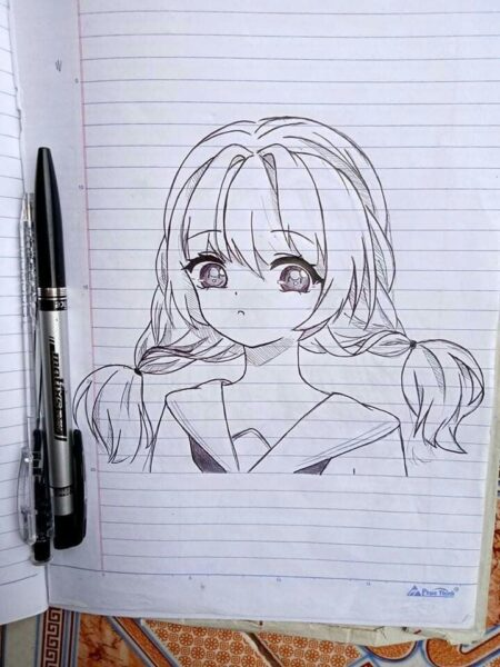 Hình vẽ anime đơn giản