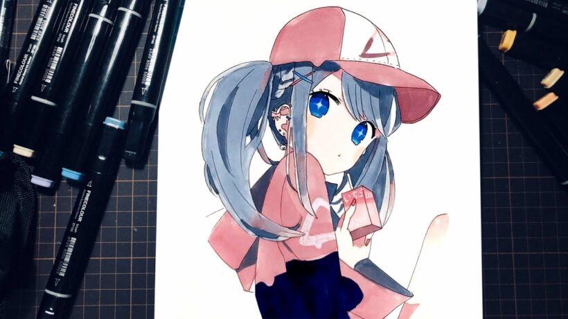 Hình vẽ anime nữ cá tính