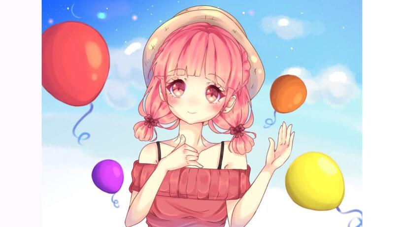Hình vẽ anime nữ đáng yêu, đẹp