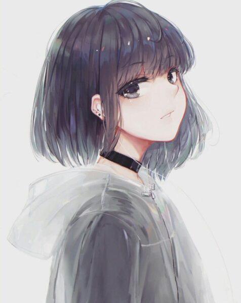 Hình vẽ anime tóc ngắn