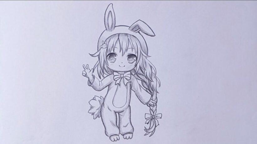 Hình vẽ Chibi dễ thương