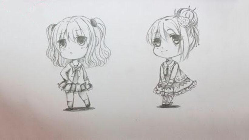 Hình vẽ Chibi nữ dễ thương