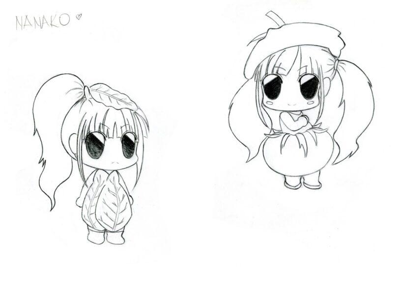 Hình vẽ đơn giản, anime chibi dễ thương