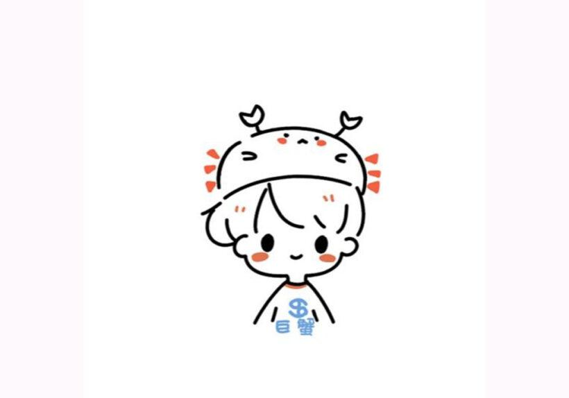 Hình vẽ đơn giản cậu bé cute