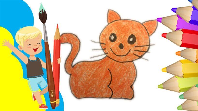 Hình vẽ mèo cực đơn giản
