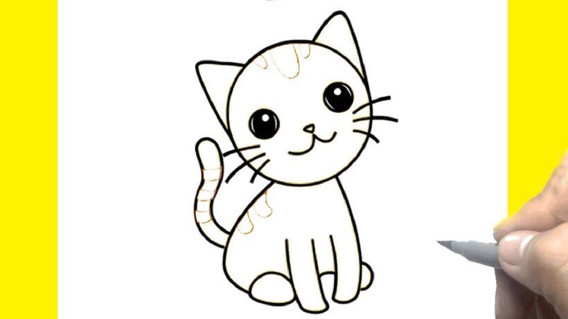 Hình vẽ mèo đơn giản