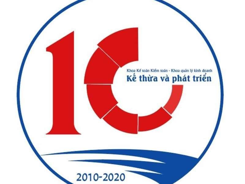 logo kỉ niệm 10 năm cực đẹp