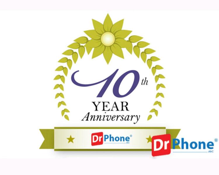 logo kỉ niệm 10 năm Dr Phone