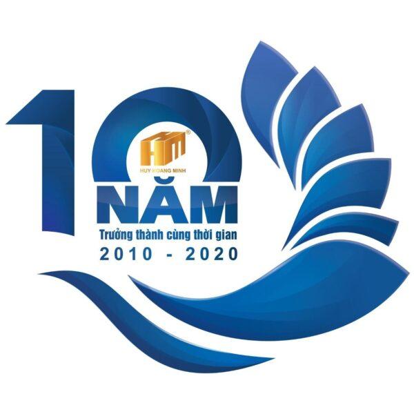 logo kỉ niệm 10 năm Huy Hoàng Minh