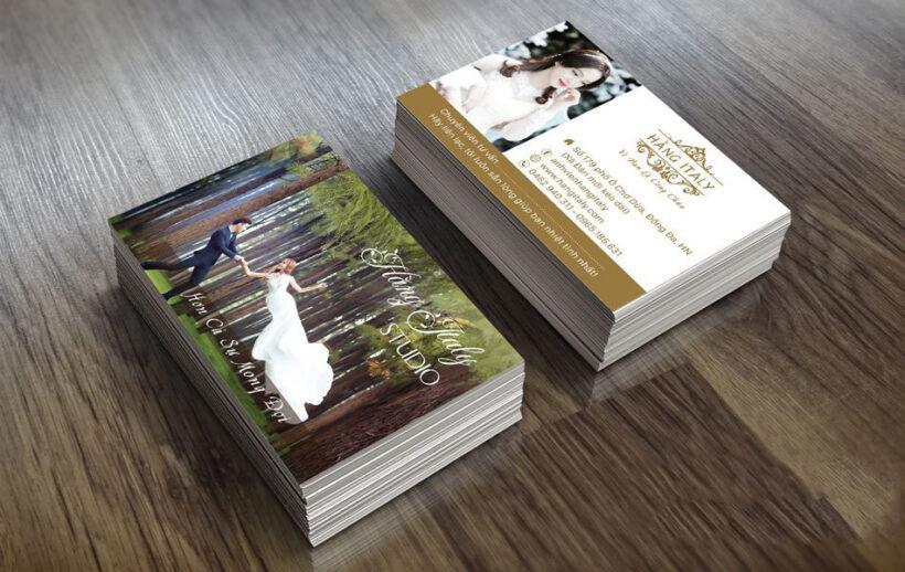 Mẫu card visit ảnh viện áo cưới