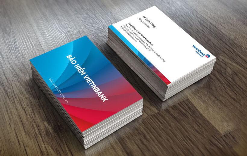 Mẫu card visit bảo hiểm Vietinbank