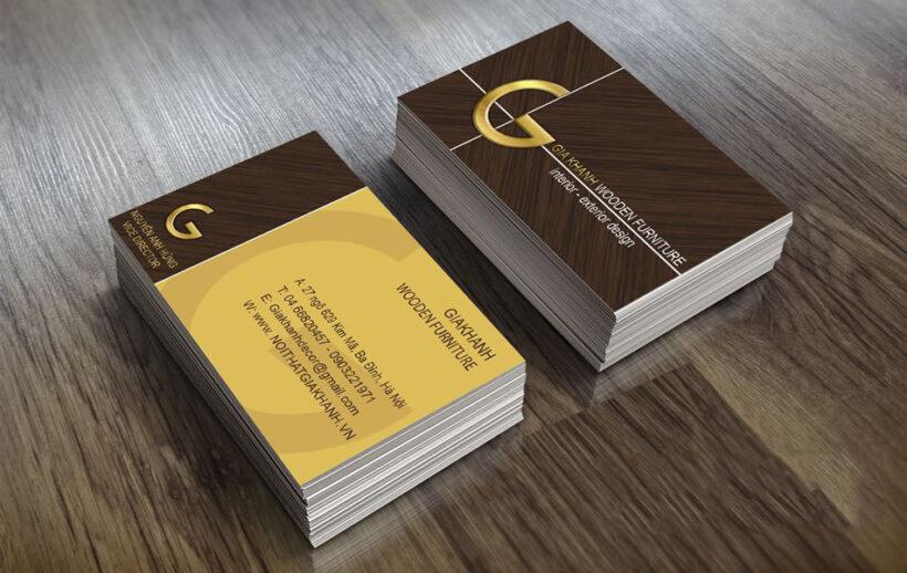Mẫu card visit kinh doanh nội thất