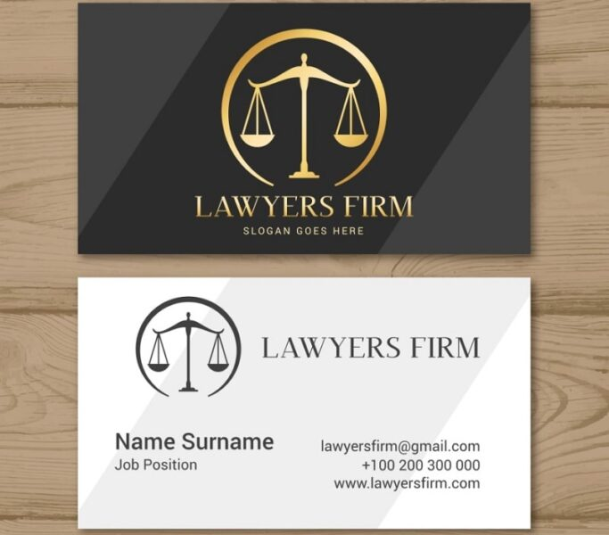 Mẫu card visit luật sư