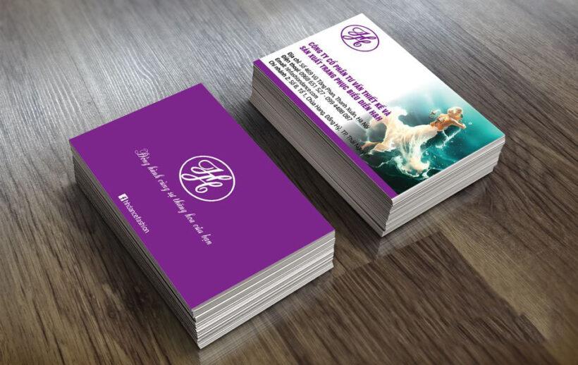 Mẫu card visit thiết kế thười trang