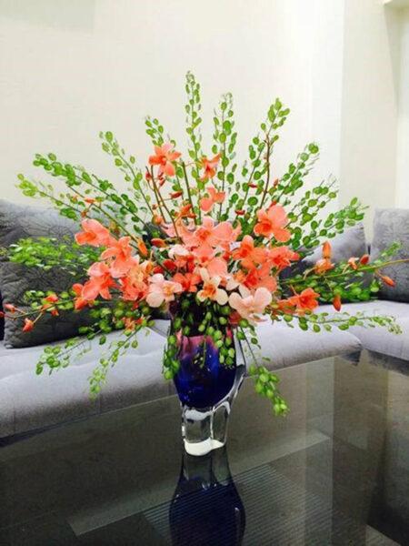Mẫu hoa để bàn cho ngày tết thêm rực rỡ sắc xuân
