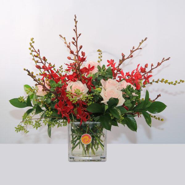 Mẫu hoa để bàn ngày tết