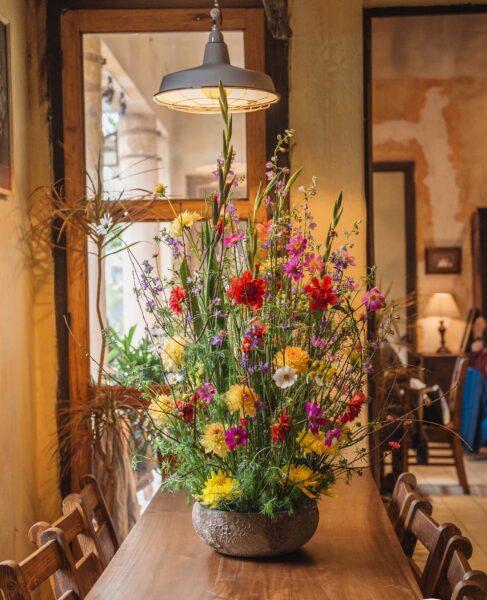 Mẫu hoa để bàn trang trí cho ngày tết