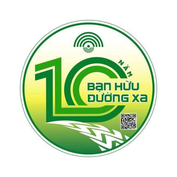 Mẫu logo kỉ niệm 10 năm bạn hữu đường xa