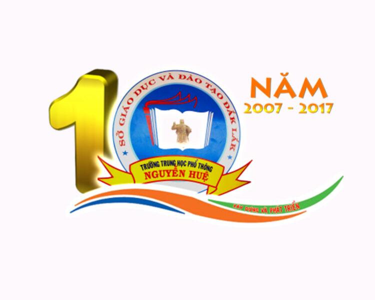 Mẫu logo kỉ niệm 10 năm cực ấn tượng