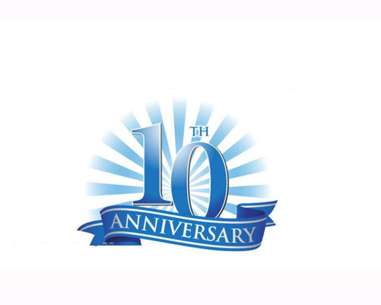 Mẫu logo kỉ niệm 10 năm cực đẹp