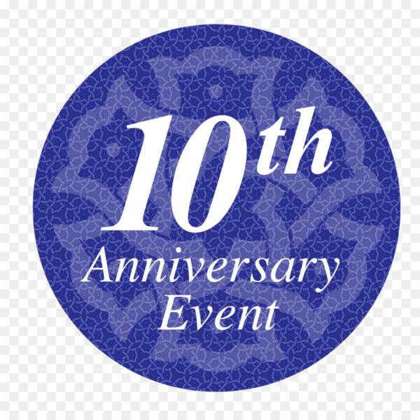 Mẫu logo kỉ niệm 10 năm đẹp