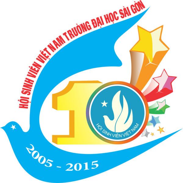 Mẫu logo kỉ niệm 10 năm hội sinh viên Việt Nam