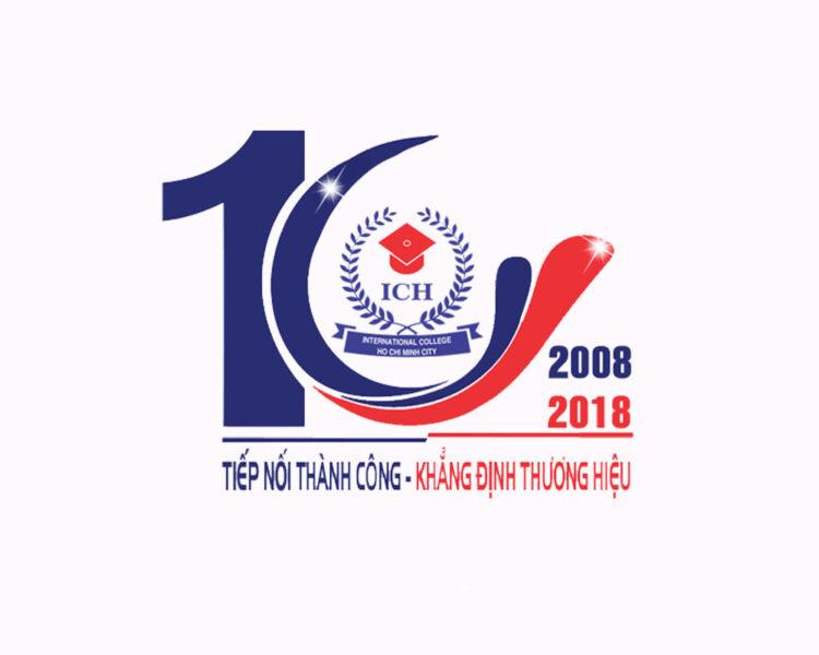 Mẫu logo kỉ niệm 10 năm ICH