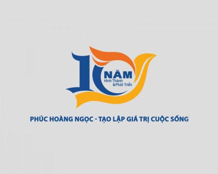 Mẫu logo kỉ niệm 10 năm Phúc Hoàng Ngọc