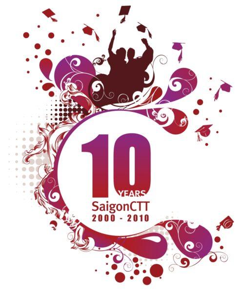 Mẫu logo kỉ niệm 10 năm Sài Gòn CTT