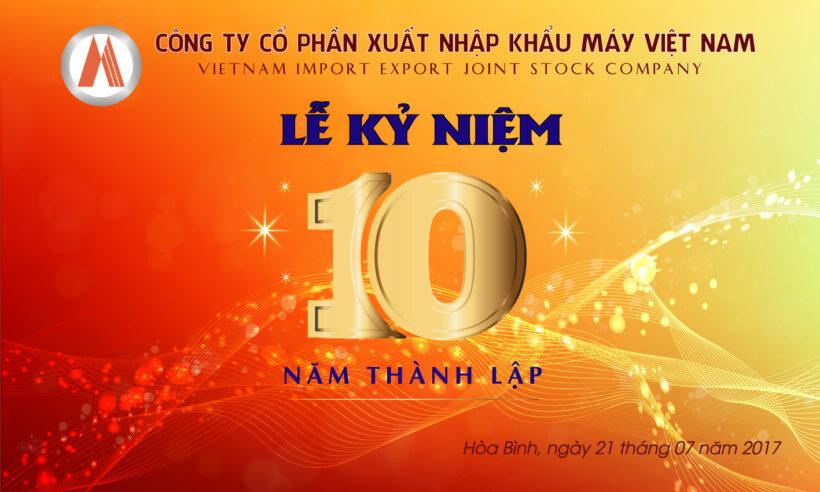 Mẫu logo kỉ niệm 10 năm thành lập công ty