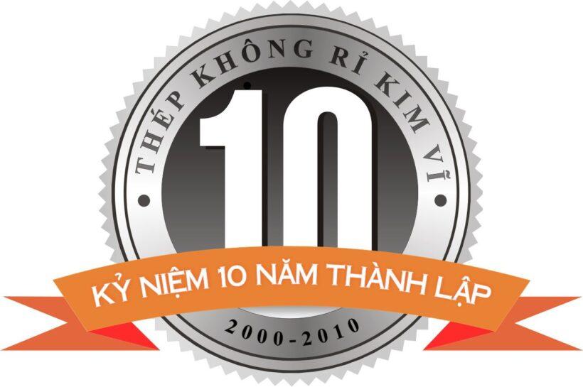 Mẫu logo kỉ niệm 10 năm thành lập đẹp