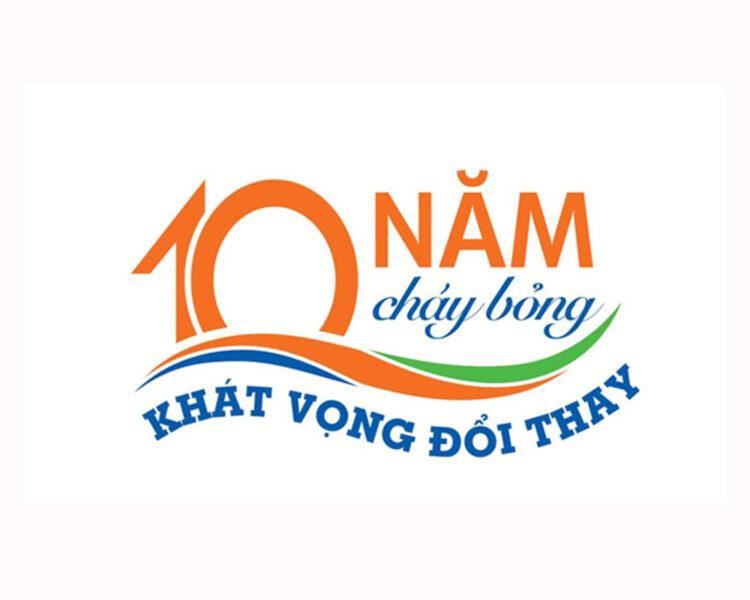 Mẫu logo kỉ niệm 10 năm thành lập ĐH FPT