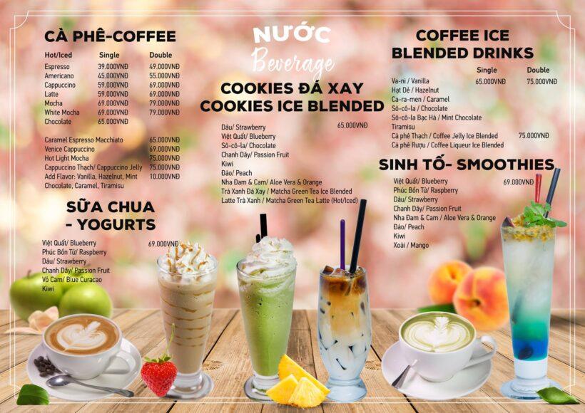 Mẫu menu cafe đẹp và ấn tượng