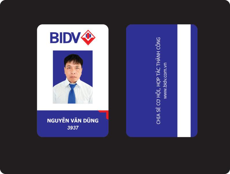Mẫu thẻ nhân viên BIDV