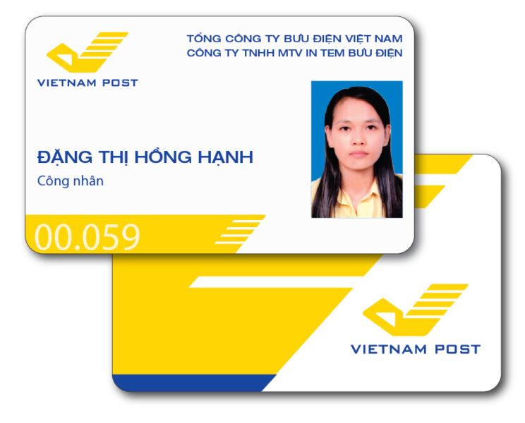 Mẫu thẻ nhân viên bưu điện