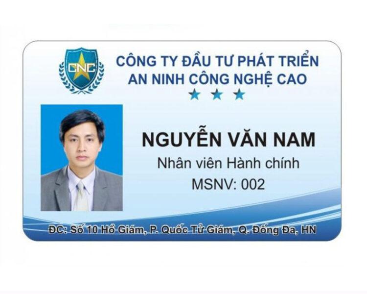 Mẫu thẻ nhân viên công ty CNC