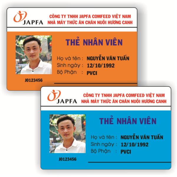 Mẫu thẻ nhân viên công ty TNHH JAPFA