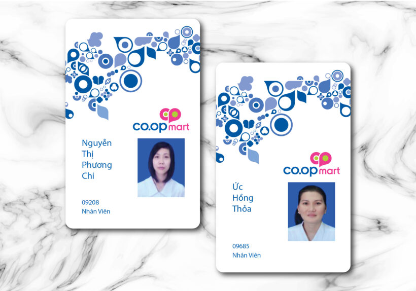 Mẫu thẻ nhân viên COOP MART