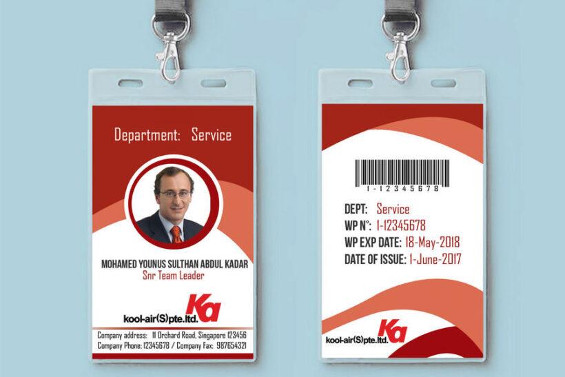 Mẫu thẻ nhân viên đeo đẹp
