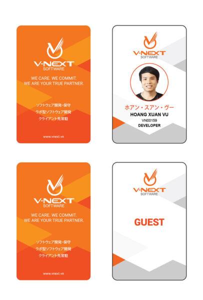 Mẫu thẻ nhân viên đẹp bằng nhựa PVC