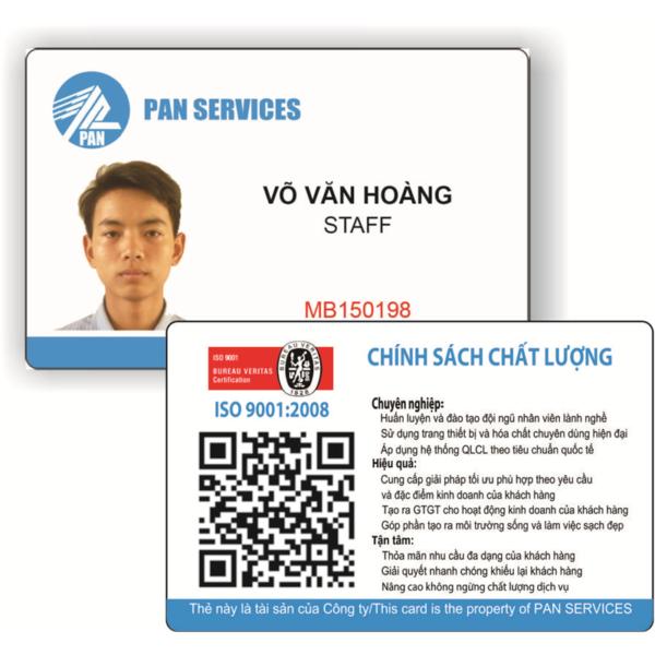 Mẫu thẻ nhân viên đẹp và đơn giản