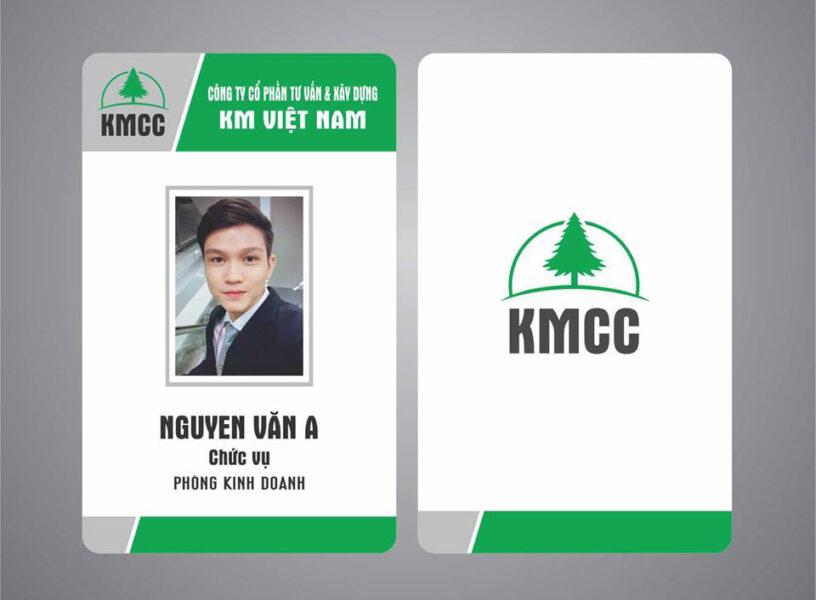 Mẫu thẻ nhân viên kinh doanh