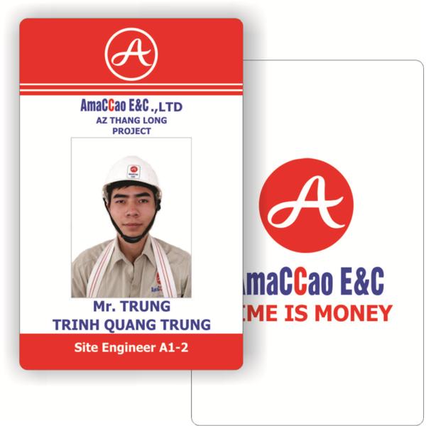Mẫu thẻ nhân viên kỹ sư