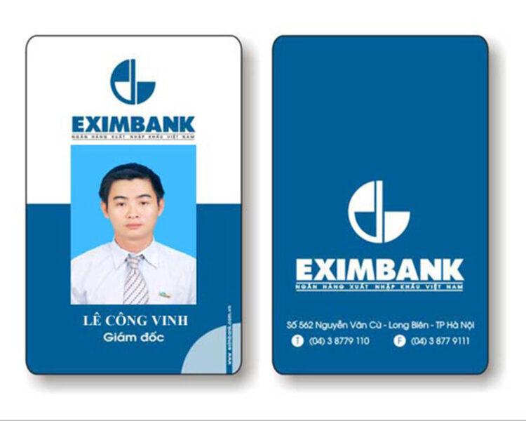 Mẫu thẻ nhân viên ngân hàng đẹp