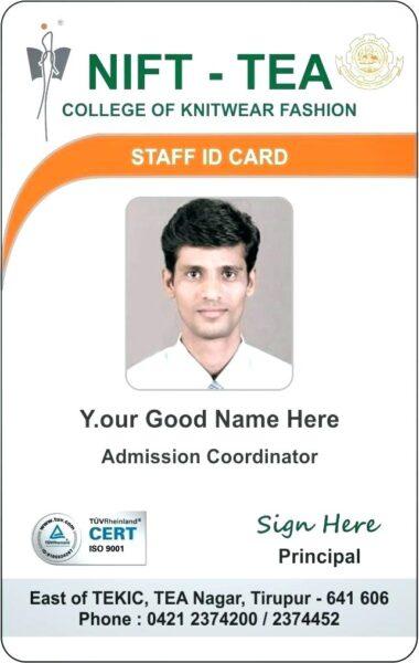 Mẫu thẻ nhân viên nước ngoài