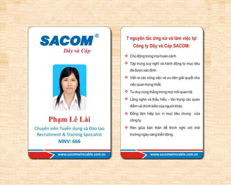 Mẫu thẻ nhân viên SACOM