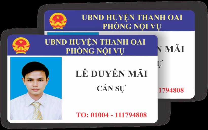 Mẫu thẻ nhân viên vector