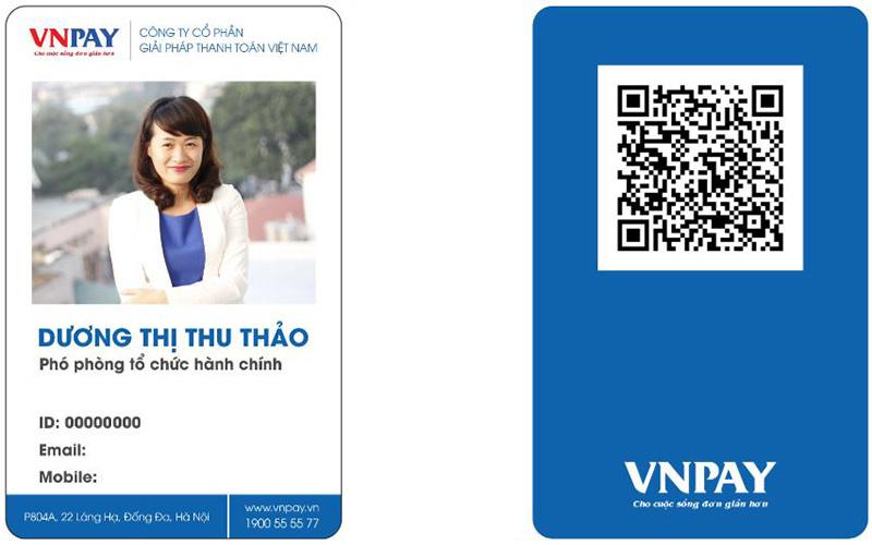 Mẫu thẻ nhân viên VNPAY