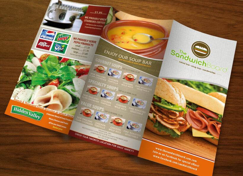 Mẫu tờ rơi quảng cáo các món ăn